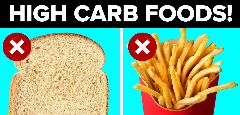 อาหารคาร์โบไฮเดรตสูงที่คุณควรหลีกเลี่ยงในอาหารประจำวันของคุณ